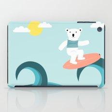 Polar bear surfing. iPad Case