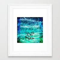 TAKE ME TO THE SEA - Typ… Framed Art Print