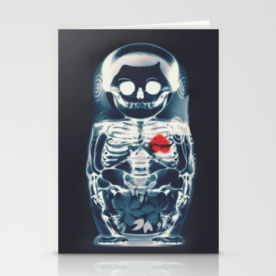 Nesting Doll X-Ray Stationery Card