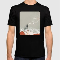Deer Lady! Mens Fitted Tee Black LARGE