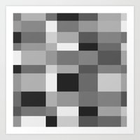Squares and tangles in tonal harmony I think? Art Print