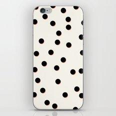 Black & Coral Dots iPhone & iPod Skin