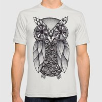 it's a hoot Mens Fitted Tee Silver SMALL