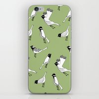 Bird Print - Olive Green iPhone & iPod Skin