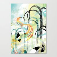 Fire Bird Canvas Print