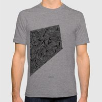 - The Place - Mens Fitted Tee Tri-Grey SMALL