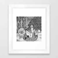 Fox Piano Framed Art Print