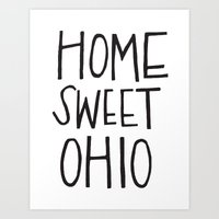 Home Sweet Ohio Art Print