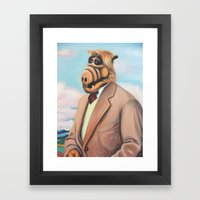Professor Alf Framed Art Print