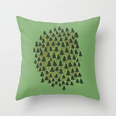 Minty Forest Throw Pillow