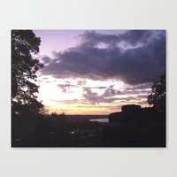 Sunset Over Ohio River Valley Canvas Print