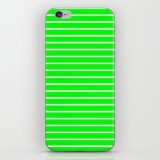 Horizontal Lines (White/Green) iPhone & iPod Skin