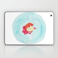 Ponyo Watercolor Laptop & iPad Skin