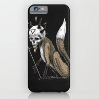iPhone & iPod Case featuring Kitsune Demon Fox by pakowacz
