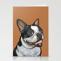Snoopy the Boston Terrier Stationery Cards