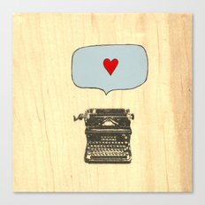 Love Letters Canvas Print