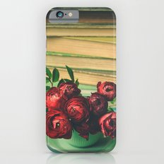 Books and Flowers Slim Case iPhone 6s