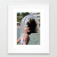 Flip Side Framed Art Print