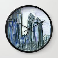 Gray Philadelphia Skyline Wall Clock