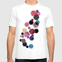 C13 construct hex v1 Mens Fitted Tee White SMALL