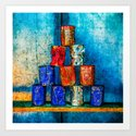 Soup Cans - Square Meal Art Print