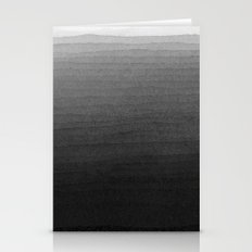 Black and White Ink Gradient  Stationery Cards
