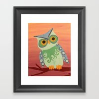 Owl All About It Framed Art Print