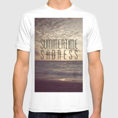 SUMMERTIME SADNESS White Mens Fitted Tee SMALL