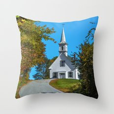 Chapel on the hill Throw Pillow