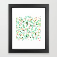 Crayon Love: Splats Framed Art Print