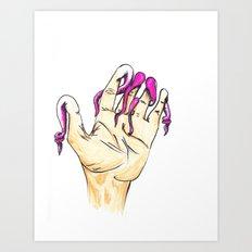 Tentacle Fingers Art Print