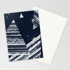 Pattern Doodle Two (Invert) Stationery Cards