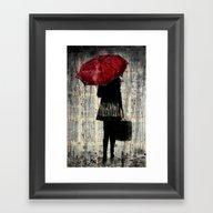 FEELS LIKE RAIN Framed Art Print