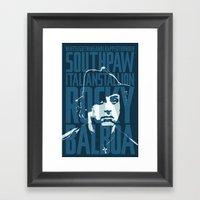 Rocky Balboa Minimal Vec… Framed Art Print