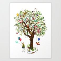 Algarrobo Tree Art Print