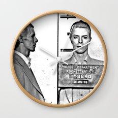 Bowie, David Mugshot (1976) Rochester, N.Y. Wall Clock