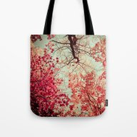 Tote Bag featuring Autumn Inkblot by Olivia Joy StClaire