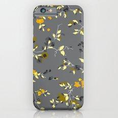 floral vines - greys, mustards & greens iPhone 6s Slim Case