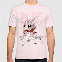 Triangles Are Tasty Mens Fitted Tee Light Pink SMALL