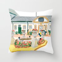 AFTERNOON TEA IN SURREY Throw Pillow