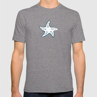Starfish Mens Fitted Tee Tri-Grey SMALL