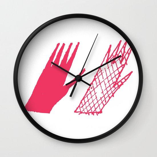 Hand and glove Wall Clock