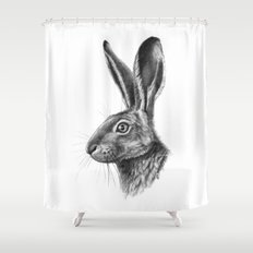 Hare profile G138 Shower Curtain