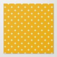 plus yellow Canvas Print