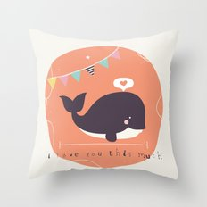 Wanda Whale Throw Pillow