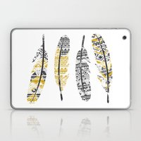 Mustard Feathers Laptop & iPad Skin