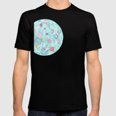 Cosmic Orb SMALL Black Mens Fitted Tee