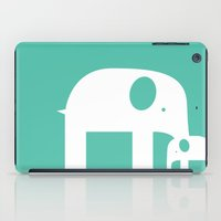 Blue Elephants iPad Case