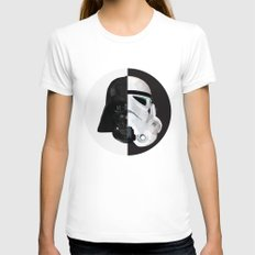 STAR WARS Womens Fitted Tee White SMALL