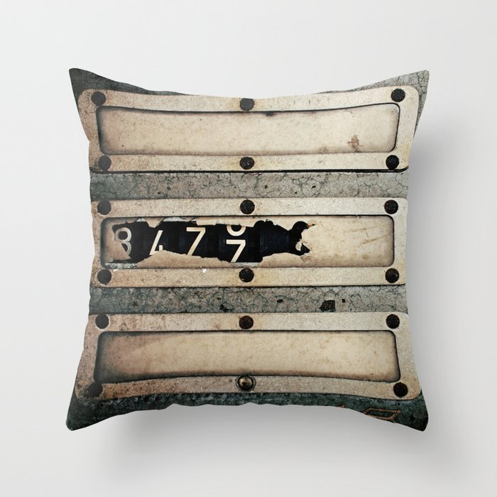 Industrial Numbers Throw Pillow by Happeemonkee  Society6